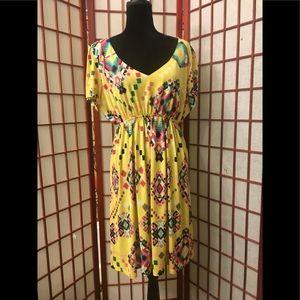 Dresses & Skirts - 🌼YELLOW AZTEC PRINT 👗DRESS Size 3XL🌼